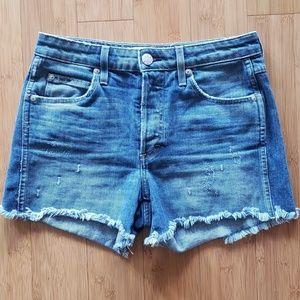 Amo Babe Short Shorts Dive Bar Blue Denim S28